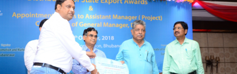 Director Terrablock Machinery Received Certificate given by MSME Department,Govt of Odisa